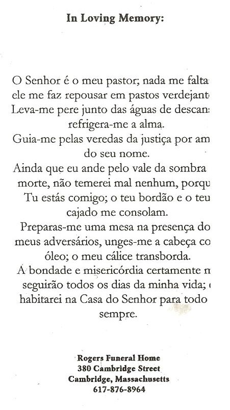 Click To Enlarge Image 23rd Psalm Portuguese